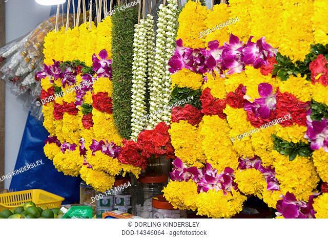 Singapore, Little India, Flower garlands