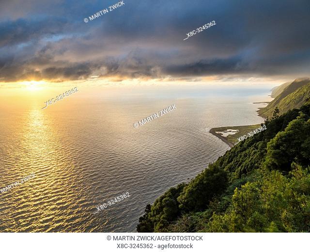 Faja dos Cubres and Faja da Caldeira de Santo Cristo. Sao Jorge Island, an island in the Azores (Ilhas dos Acores) in the Atlantic ocean