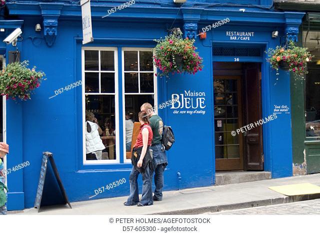 Victoria Street. Old Town. Maison Bleue restaurant