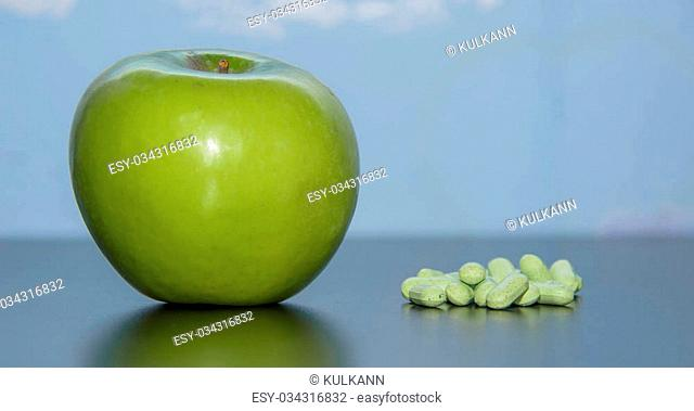 vitamins to choose an apple or pills