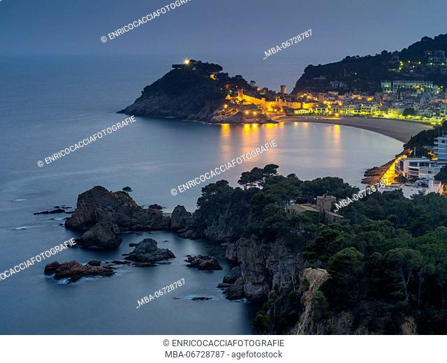 Tossa de Mar at Costa Brava in the evening