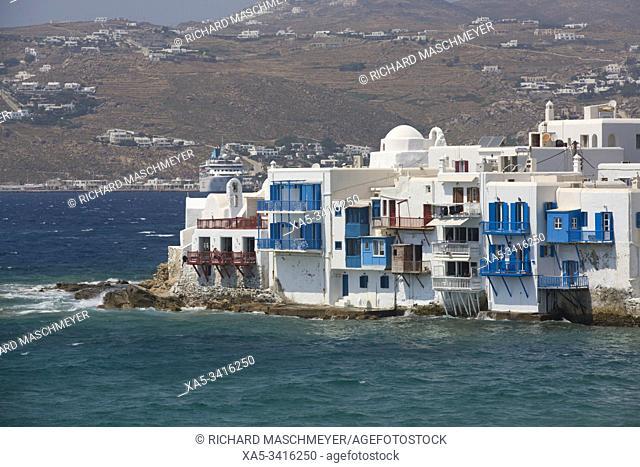 Little Venice, Mykonos Town, Mykonos Island, Cyclades Group, Greece