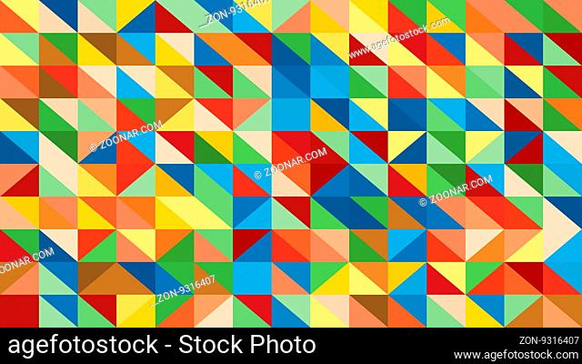 Abstract raibow colorful vector lowploly of many triangles background for use in design