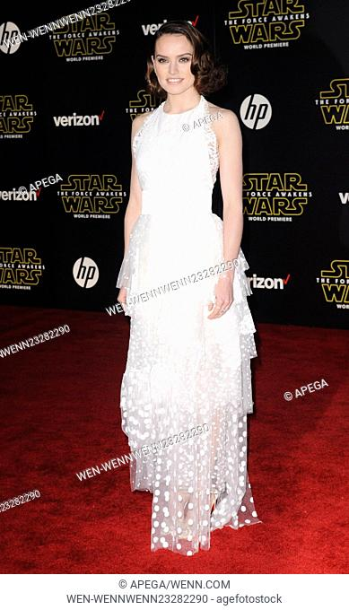 Film Premiere of Star Wars: The Force Awakens Featuring: Daisy Ridley Where: Los Angeles, California, United States When: 15 Dec 2015 Credit: Apega/WENN