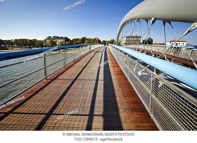 Bernatka footbridge in Krakow, Poland