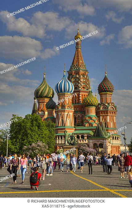 St Basil's Cathedral, Red Square, UNESCO World Heritage Site, Moscow, Russia