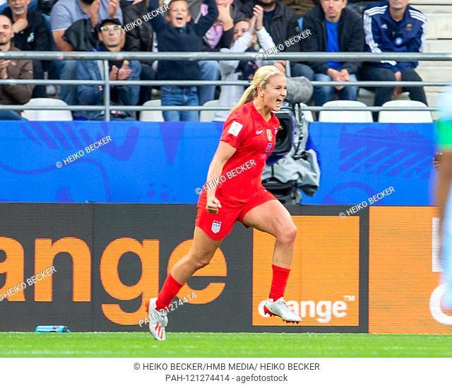 France, Reims, Stade Auguste-Delaune, 11.06.2019, Football - FIFA Women's World Cup - USA - Thailand Photo: lll goalkeeper Lindsey Horan (USA