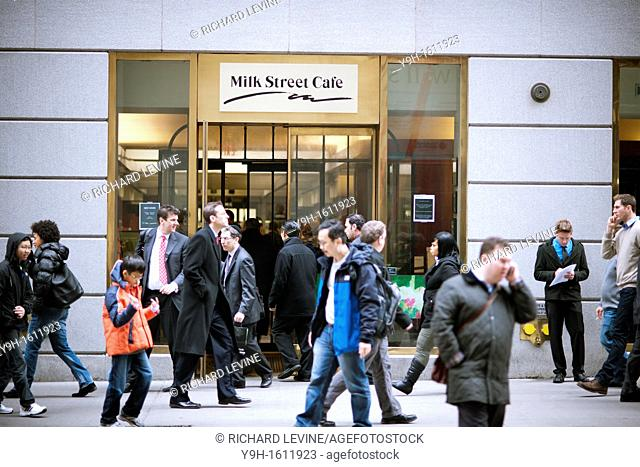The Milk Street Cafe on Wall Street in Lower Manhattan in New York is seen on its last day of business, Thursday, December 15, 2011 The 23