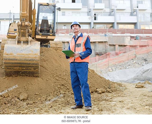 Mature man on construction site