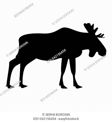 Moose elt icon black color vector illustration flat style simple image