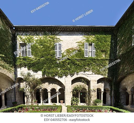 Saint Remy, Bouches du Rhone, France, 23. 06. 2018. . Cloister of the Monastery of San Paul de Mausole at Saint-Remy de Provence, where Van Gogh spent in 1889