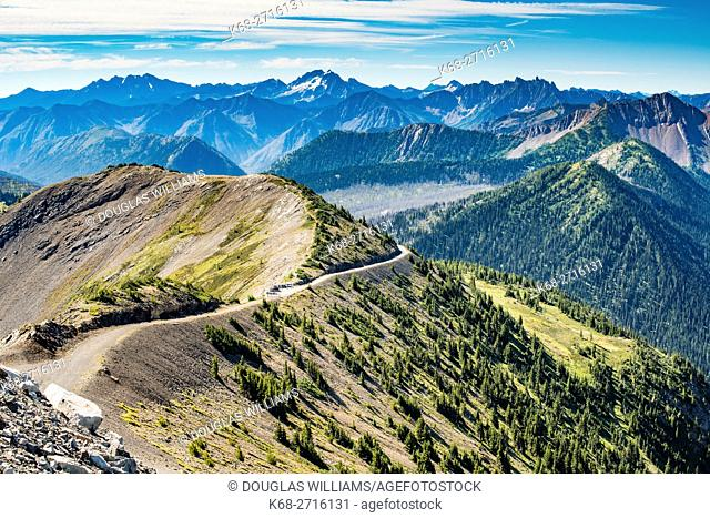 high mountain road at Hart's Pass in the Cascade mountains of Washington state, USA