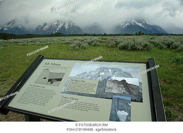 Grand Teton National Park, WY, Wyoming, Mount Moran, Teton Mountains, Mt Moran turnout
