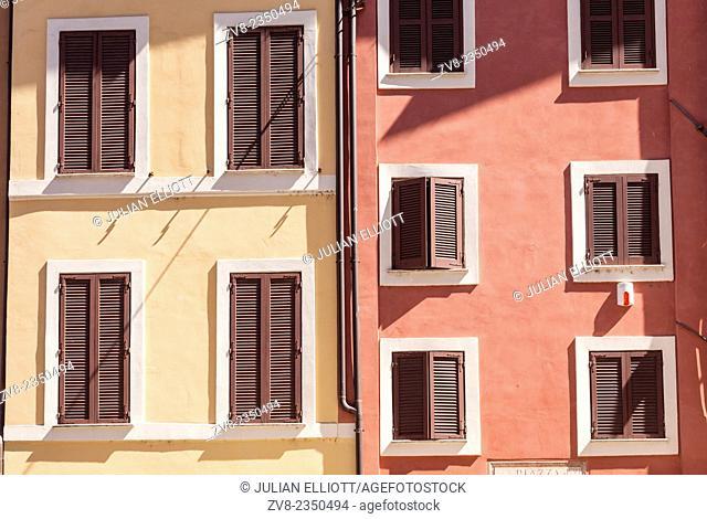 Colourful building facades near Campo de' Fiori, Rome