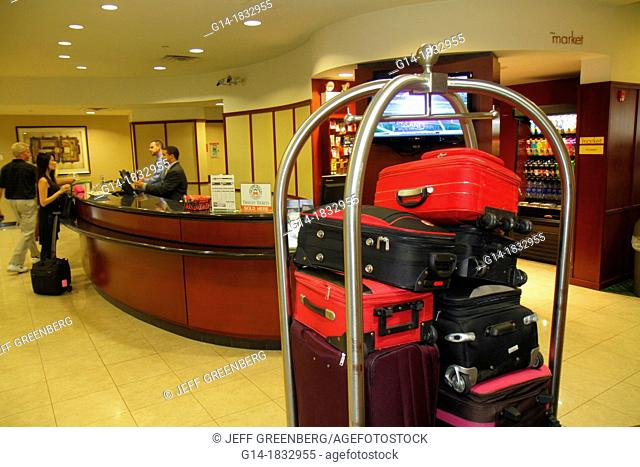 Massachusetts, Boston, Courtyard Marriott South Boston, motel, hotel, luggage cart, lobby, front desk, guest, service