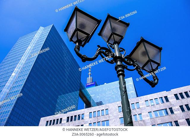 Lamp Post in front of the Proximus building, Brussels, Belgium, Europe