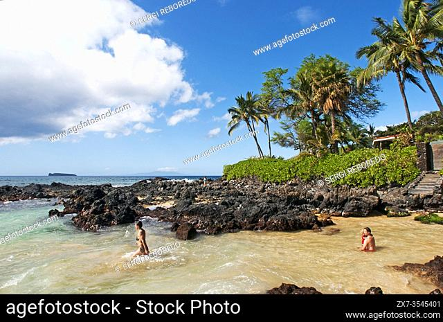 Secret Cove Beach. Maui. Hawaii. Pa'ako Beach, otherwise known as Secret Cove, is a not-so-secret beach just south of Big Beach in Makena