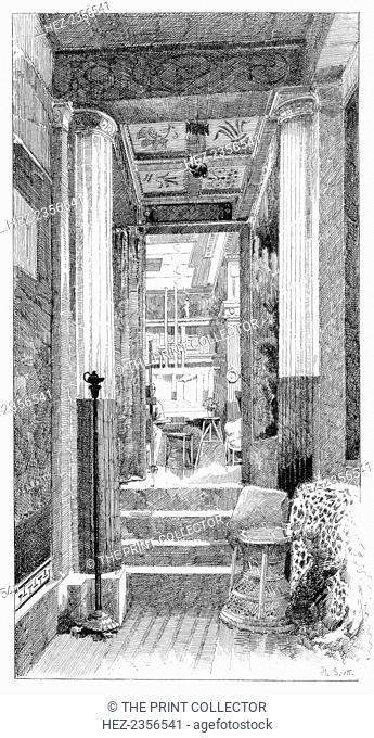 'Entrance to the Studio', c1880-1882. A print from Modern Artists, prepared under the direction of FG Dumas, JS Virtue and Co, London, c1880-1882