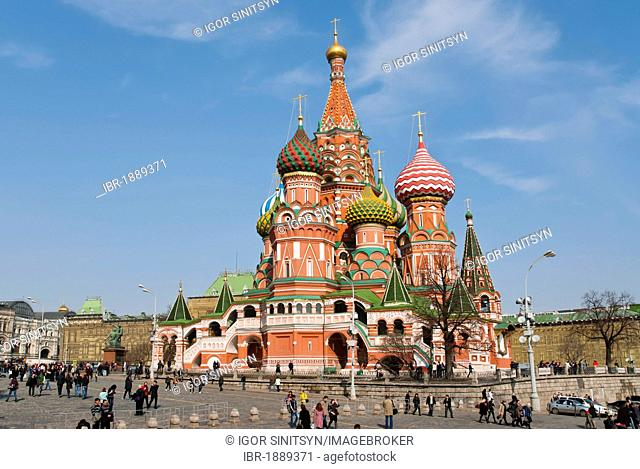 St. Basil's Cathedral, Red Square, UNESCO World Heritage Site, Moscow, Russia