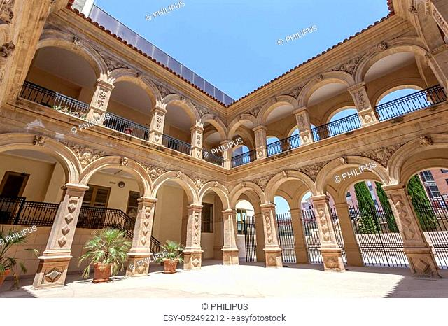 Historic convent of La Merced in the old town of Lorca. Province of Murcia, Spain