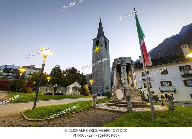 The church of Santo Stefano in Crodo, Ossola, Piedmont, Italian alps, Italy