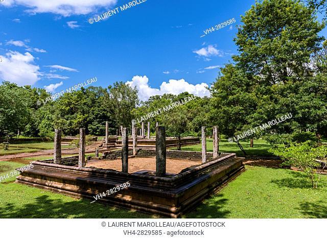 One of Five Residences at Mahasena Palace (Pancavasa), Ahbayagiri Monastery, Sacred City of Anuradhapura, North Central Province, Sri Lanka, Asia