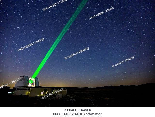 France, Alpes-Maritimes, Caussols, observation site of calern plateau, laser telemetry