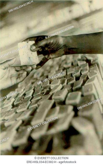 Soap being made in Jonestown factory. People's Temple Agricultural Project. Jonestown, Guyana. Nov. 1978