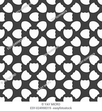 Shield protection web icon. flat design. Seamless pattern