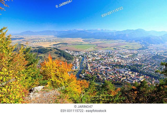 Town Ruzomberok from hill Cebrat, Slovakia