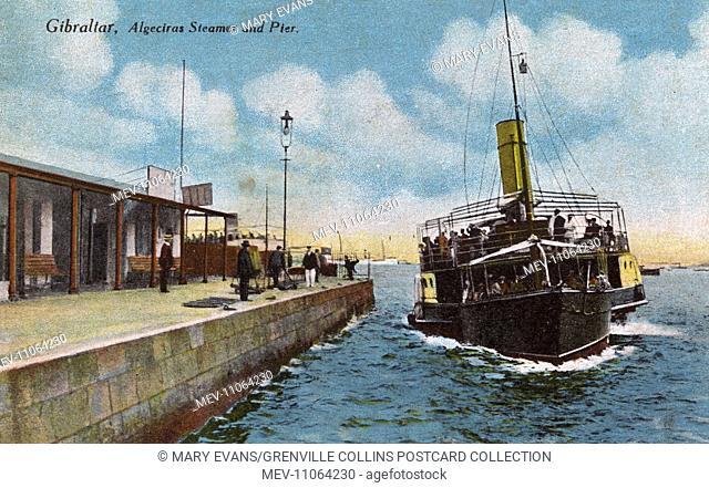Gibraltar - Algeciras Steamer and Landing Pier