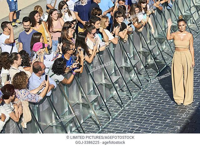 Blanca Suarez attended 'El verano que vivimos' Photocall during 67th San Sebastian Film Festival at Kursaal Palace on September 22, 2019 in San Sebastian, Spain