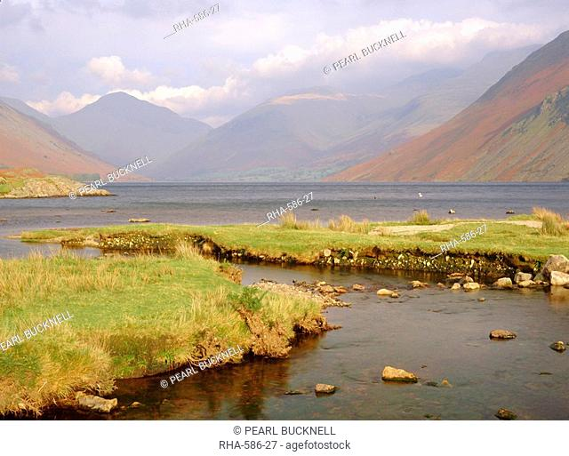 Great Gable, Lingmell and Scafell beyond, Wastwater, Lake District National Park, Cumbria, England, UK, Europe