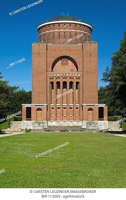 Planetarium located in an old water tower at Hamburger Stadtpark park, Hamburg, Germany