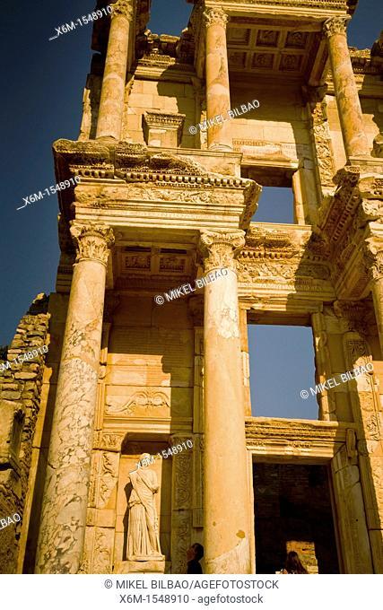 Library of Celsus, Ruins of Ephesus  Izmir province  Anatolia, Turkey