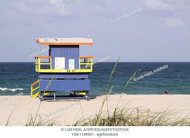 Miami Beach Lifeguard House, Florida, USA
