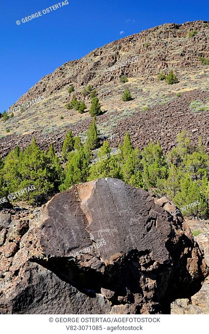 Petroglyphs on Picture Rock Pass, Lakeview District Bureau of Land Management, Oregon Outback Scenic Byway, Oregon
