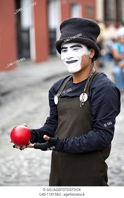 Mime with ball
