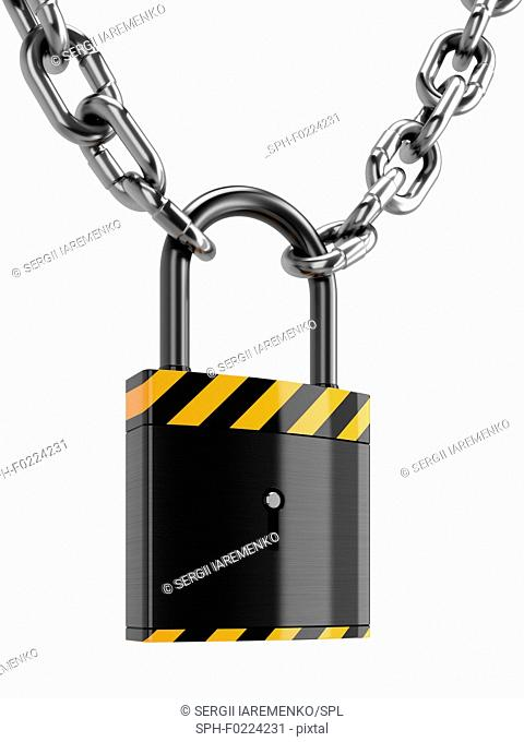 Padlock, illustration