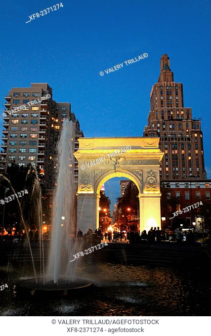 Washington Square, West Village, Manhattan, New York City, New York, USA