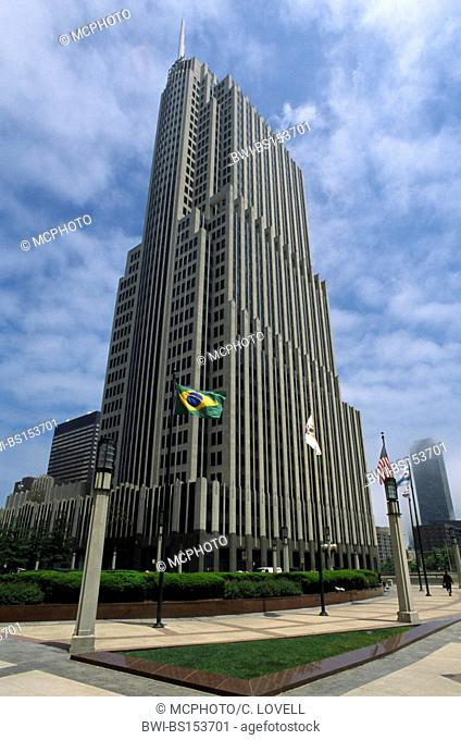 The NBC TOWER was built in 1989, architectural firm SKIDMORE, OWINGS and MERRILL, USA, Illinois, Chicago