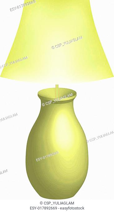 Vector illustration of lamp