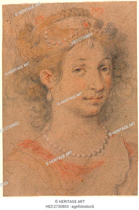 Head of a Woman, 1600s. Creator: Anonymous