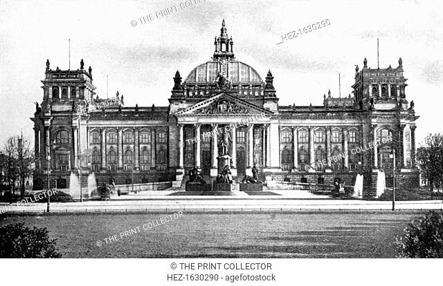 Germany's Houses of Parliament, Berlin, 1926. From An Outline of Christianity, The Story of Our Civilisation, volume 5: Christianity Today and Tomorrow