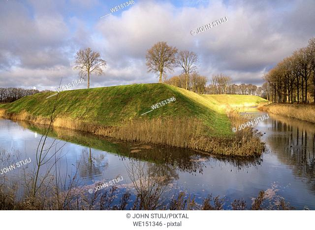 Fortress the Roovere is part of the West Brabant Waterline near the Dutch village Halsteren