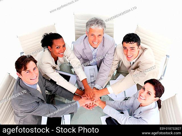 United multi-ethnic business team having a meeting