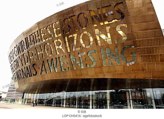 The Wales Millennium Centre in Cardiff Bay. Home of the Welsh National Opera, the area was previously known as Tiger Bay