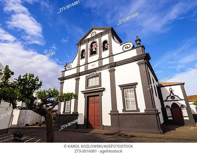 Sao Mateus Church in Praia, Graciosa Island, Azores, Portugal