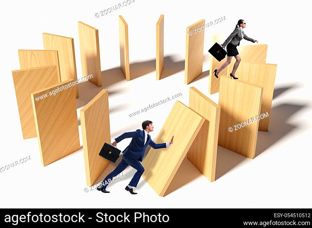 Domino effect and the competition concept