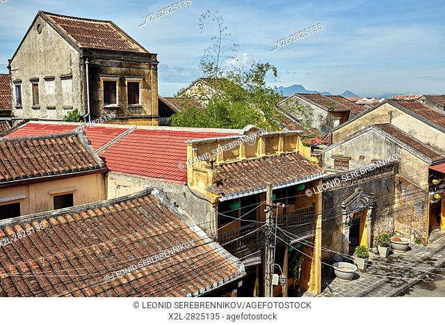 Old houses in Hoi An Ancient Town. Quang Nam Province, Vietnam